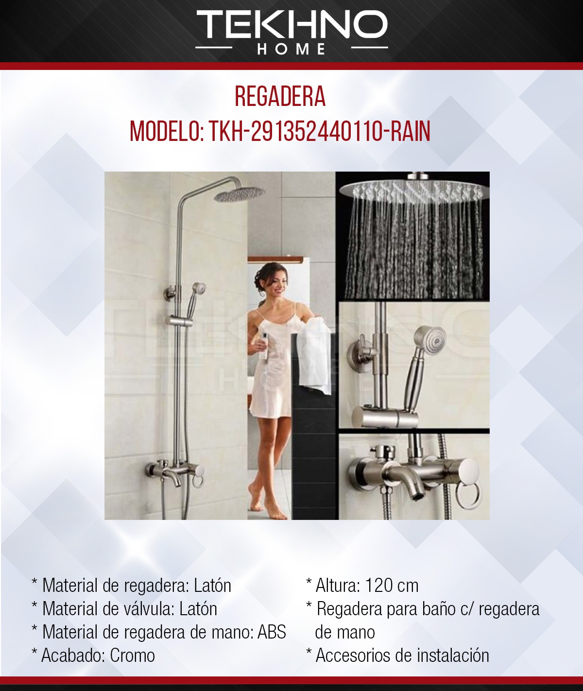 4 Regadera TKH-291352440110-RAIN