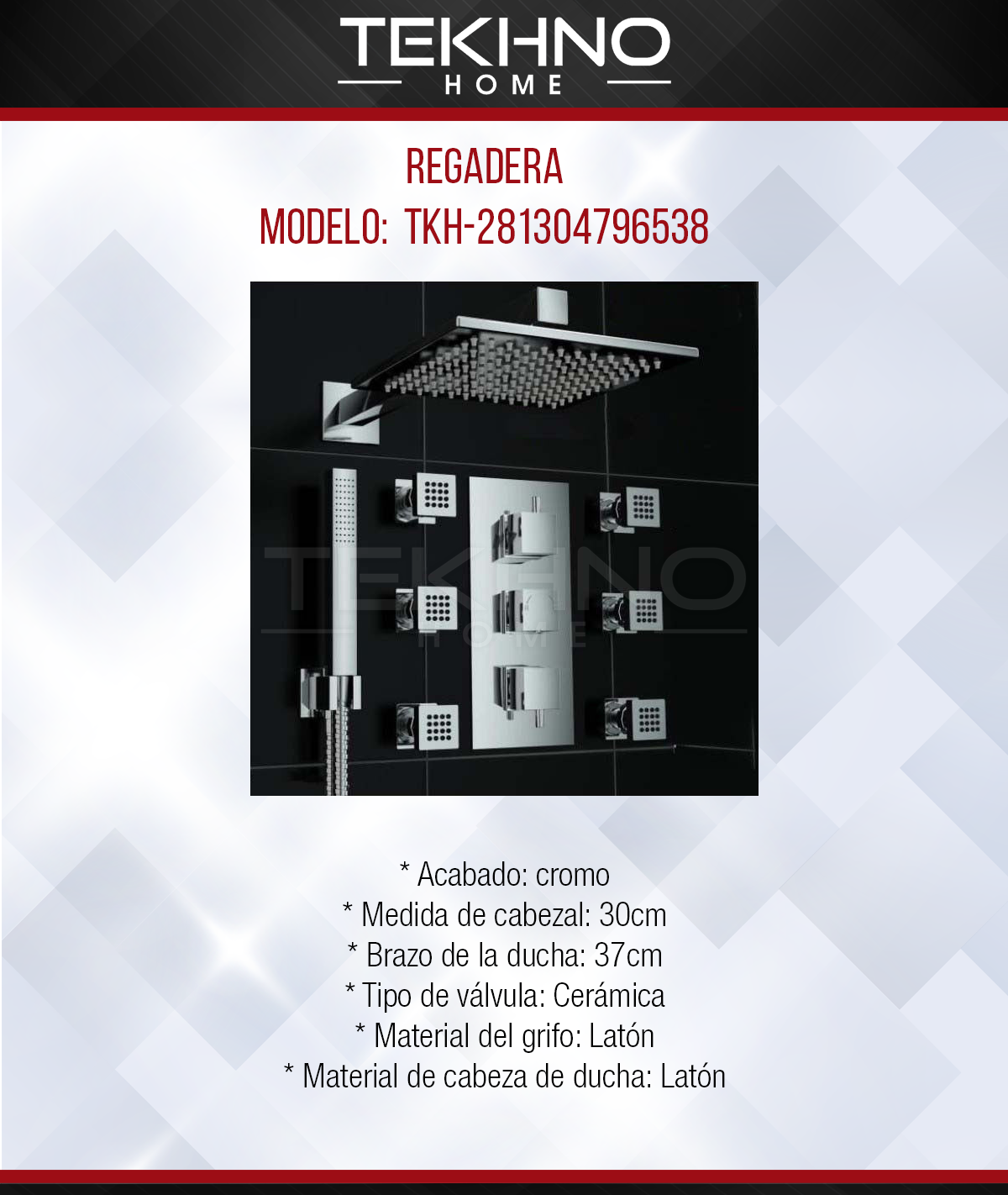 Regadera tkh-281304796538